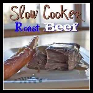 Slow Cooker Roast Beef from OrWhateverYouDo.com