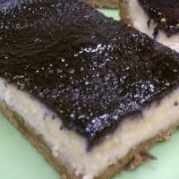 Cheesecake Bars with Blueberry Topping