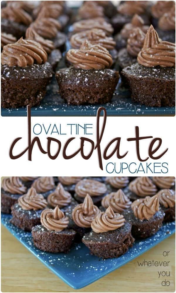 New Ovaltine Cupcakes