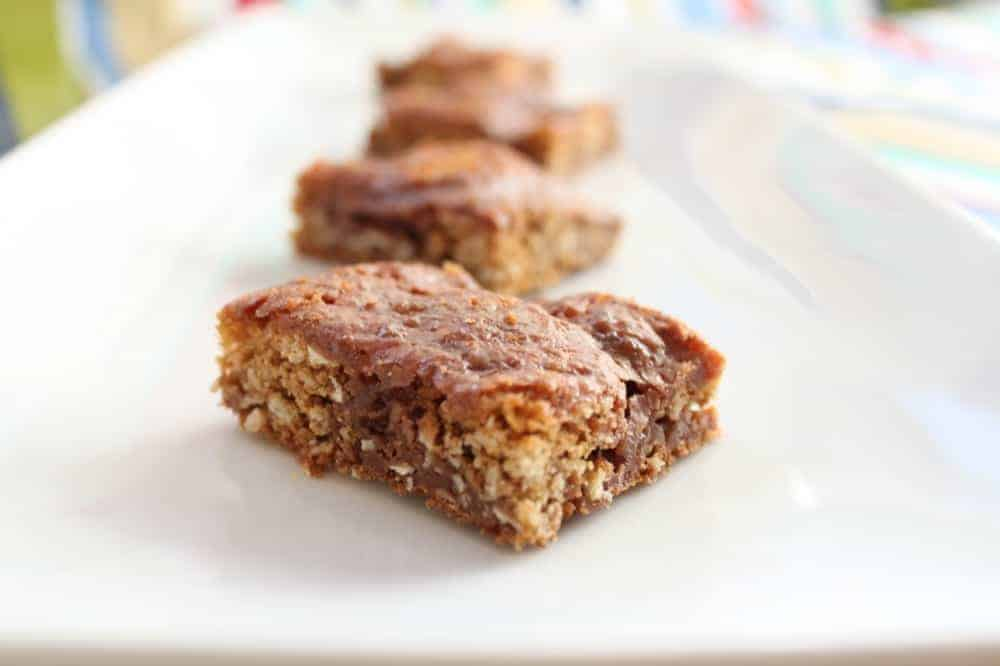 Oatmeal Chocolate Cookie Bars from OrWhateverYouDo.com