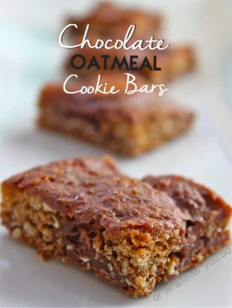 Chocolate Oatmeal Cookie Bars