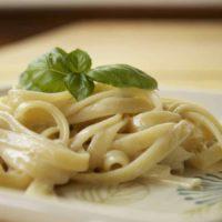 Roasted Garlic Basil Cream Sauce