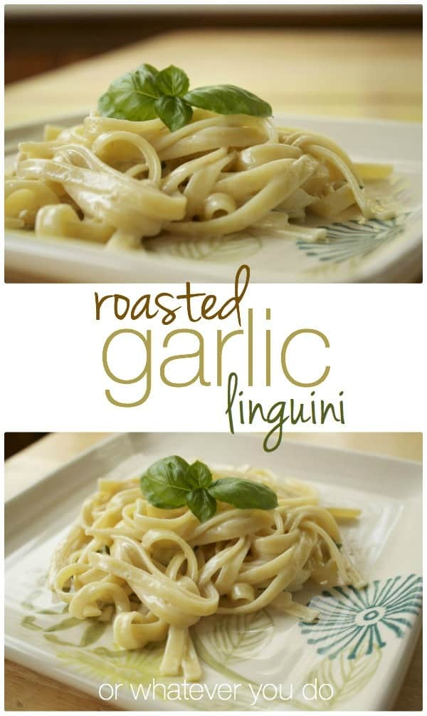 Roasted Garlic Linguini