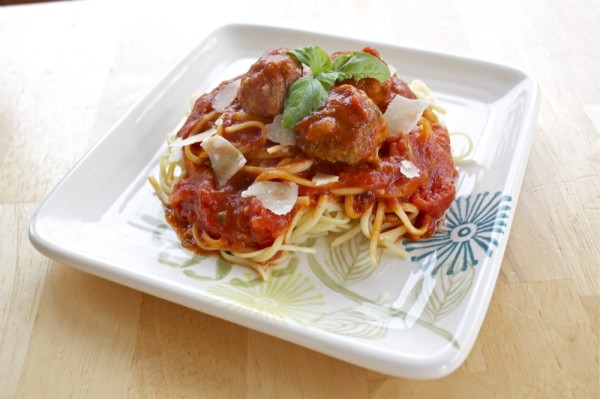 Spaghetti and Meatballs from OrWhateverYouDo.com