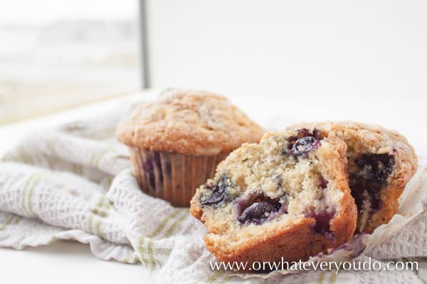 Blueberry Buttermilk Muffins with Streusel Topping - Or ...