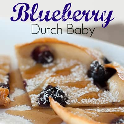 Blueberry Dutch Baby from OrWhateverYouDo.com