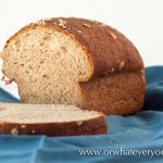 #Buttermilk Oatmeal #Bread #Recipe from OrWhateverYouDo.com