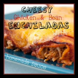 Chicken Enchiladas with Homemade Sauce from OrWhateverYouDo.com