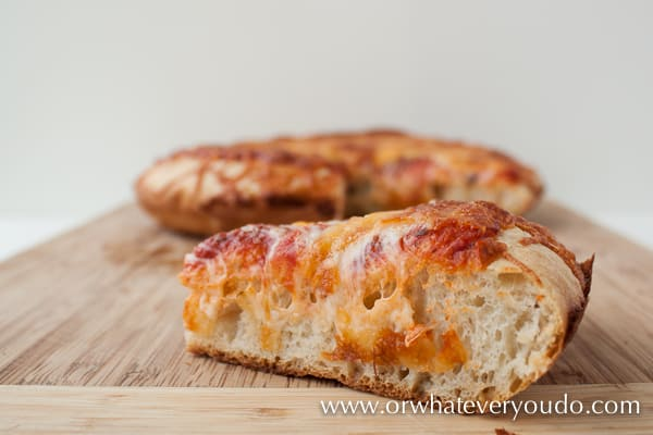 Cast Iron Deep Dish Pizza Crust from OrWhateverYouDo.com