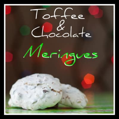 Toffee Chocolate Meringues from OrWhateverYouDo.com