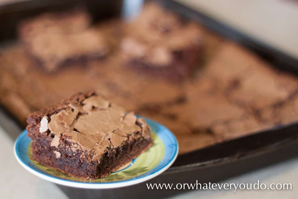 Big Batch #Brownies from OrWhateverYouDo.com