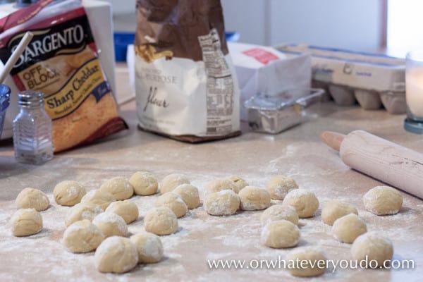 Caramelized Onion Cheddar Potato Pierogies from OrWhateverYouDo.com