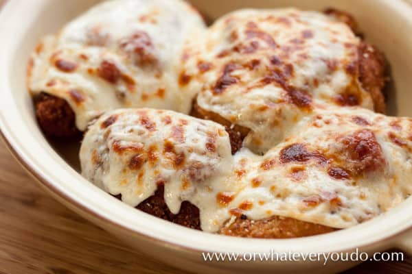 Chicken Parmigiana from OrWhateverYouDo.com