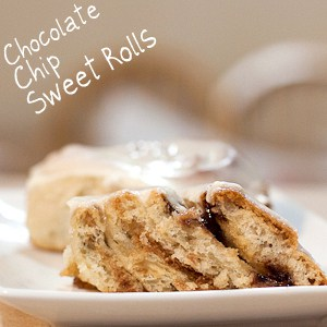 Chocolate Chip Sweet Rolls