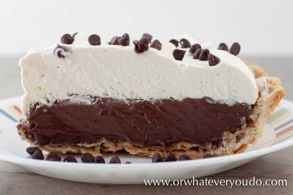 Chocolate Cream Pie from OrWhateverYouDO.com