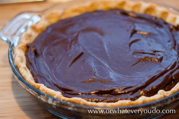 #Chocolate #Cream #Pie from OrWhateverYouDo.com