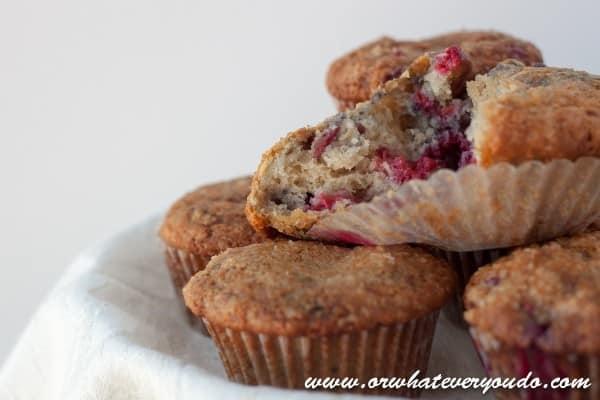 Lemon Raspberry Muffins from OrWhateverYouDo.com
