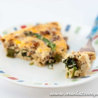 Sausage and Asparagus Frittata