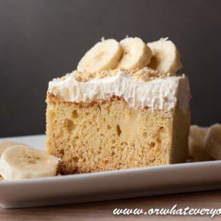 Banana Fo Fanna Pudding Poke Cake