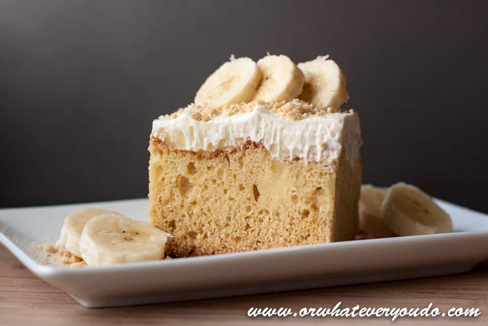 Banana Fo Fanna Pudding Cake from OrWhateverYouDo.com