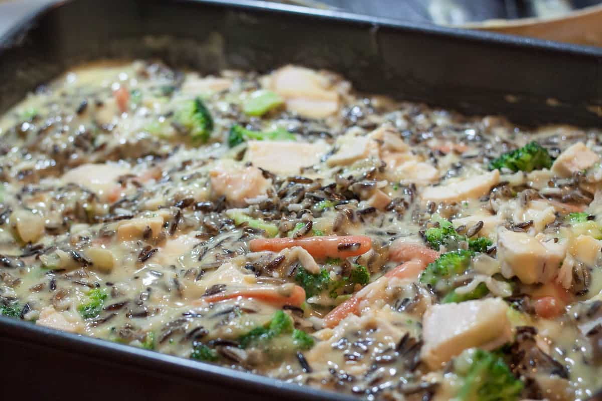 Creamy Chicken Wild Rice Casserole from OrWhateverYouDo.com
