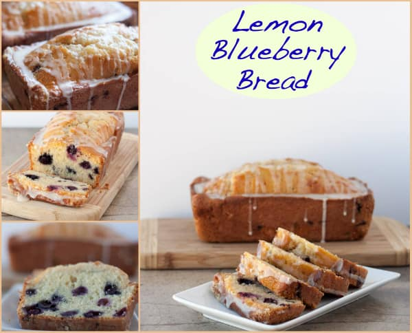 Meyer Lemon Blueberry Bread from OrWhateverYouDo.com