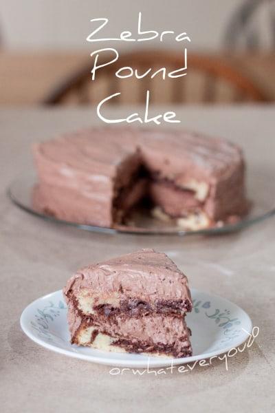 Zebra Pound Cake from OrWhateverYouDo.com