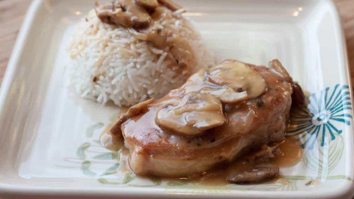 Baked Pork Chops with Mushroom Pan Gravy