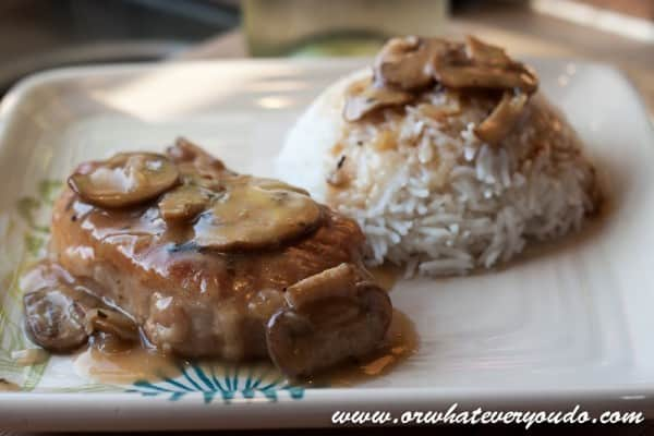Baked Pork Chops with Pan Gravy from OrWhateverYouDo.com