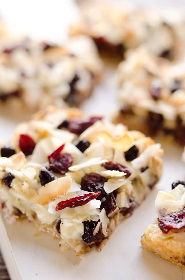 Berry Coconut Magic Bars