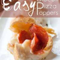 Easy Biscuit Pizza Poppers