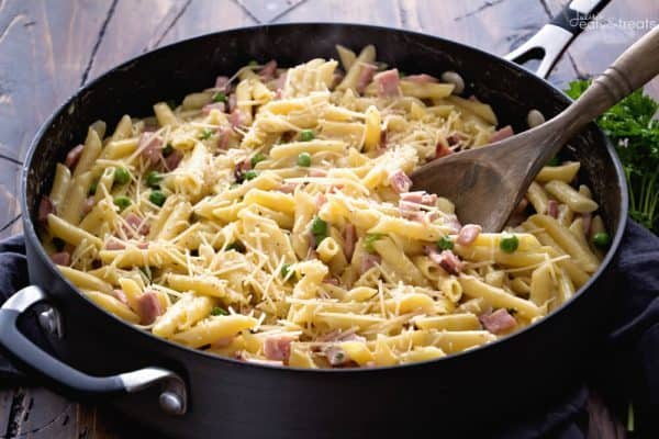 One Pot Ham and Penne Skillet