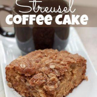 Apple Cinnamon Streusel Coffee Cake