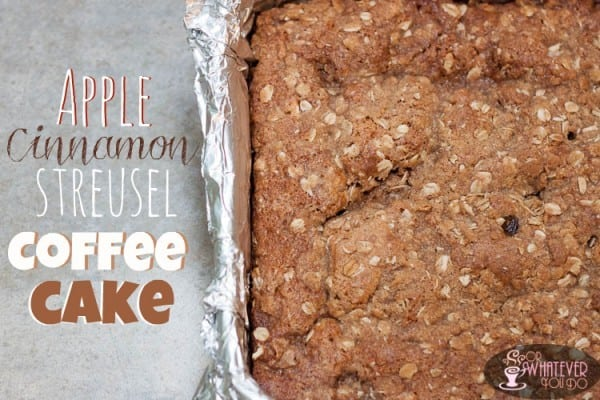 Apple Cinnamon Streusel Coffee Cake from OrWhateverYouDo.com #apple #coffee_cake
