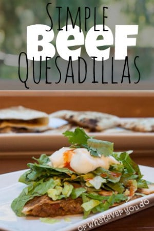 Simple Beef Quesadillas