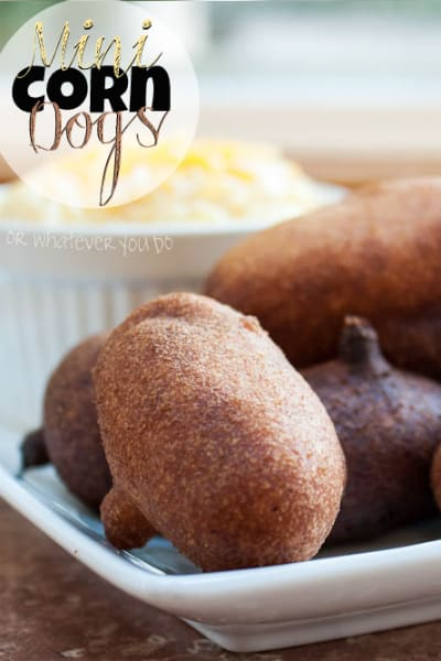 Mini Corn Dogs From Or Whatever You Do