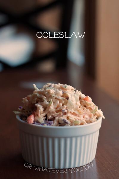 Coleslaw I www.orwhateveryoudo.com I #bbq #picnic #recipe #side