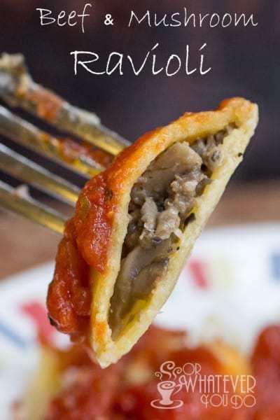 Beef and Mushroom Ravioli