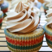 Marble Cupcakes with Marbled Swiss Meringue