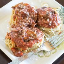 Spaghetti with Mushroom Meat Sauce-1
