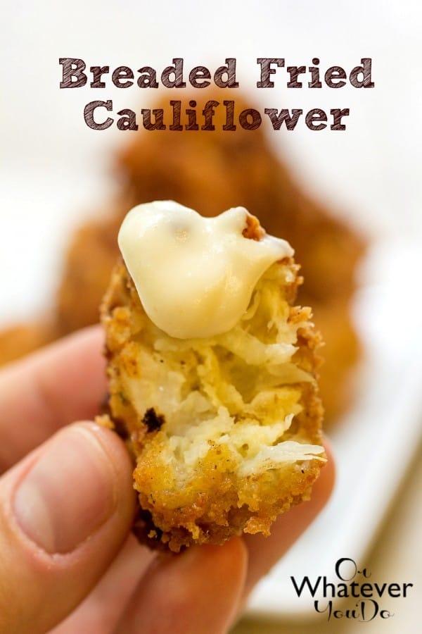 Breaded Fried Cauliflower