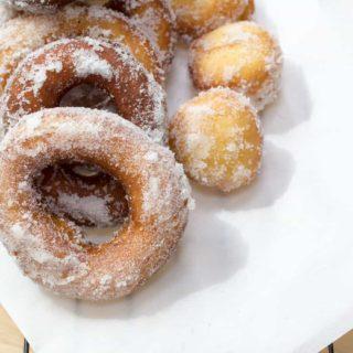 Vanilla Cream Filled Sugar Donuts-7