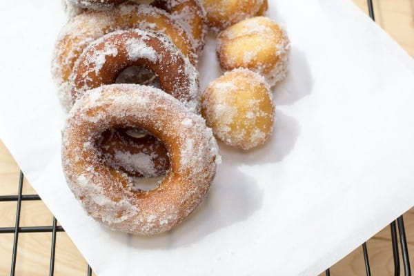 Vanilla Cream Filled Sugar Donuts-7