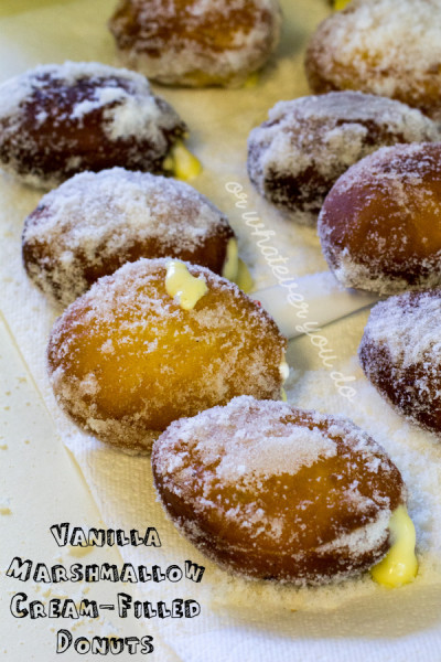 Vanilla Marshmallow Cream Filled Sugar Donuts