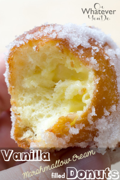 Vanilla Marshmallow Cream Filled Sugar Donuts