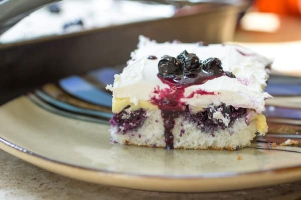 Blueberry Lemon Poke Cake