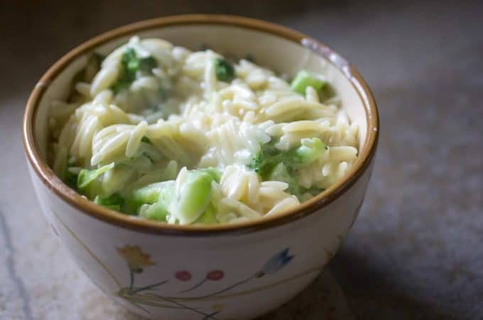Broccoli Cheese Orzo
