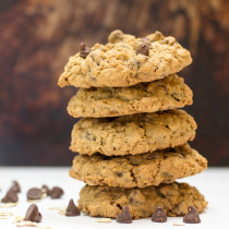 Chewy Oatmeal Chocolate Chip Cookies-6