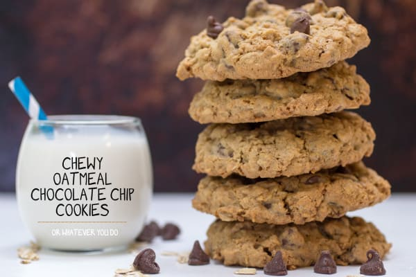 Chewy Oatmeal Chocolate Chip Cookies Pinterest 3