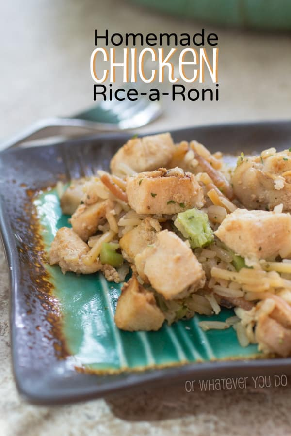 Homemade Rice-a-Roni Pinterest